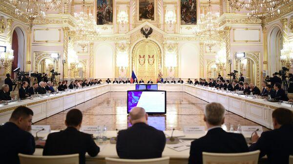 Президент РФ Владимир Путин проводит совместное расширенное заседание президиума Государственного совета и Совета при президенте по науке и образованию