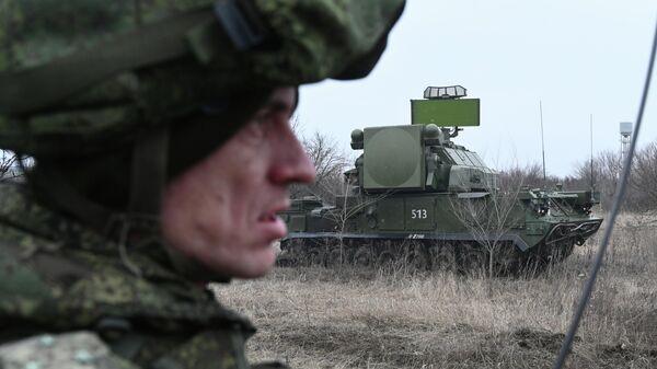 Зенитный ракетный комплекс Тор во время тактических учений Южного военного округа в Ростовской области