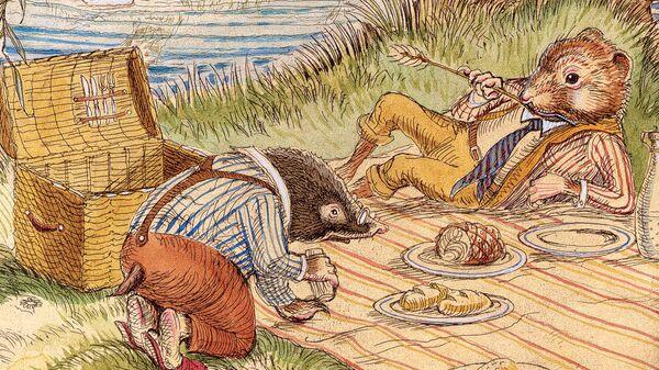 Иллюстрация Чарльза Сандвика к книге Кеннета Грэма Ветер в ивах