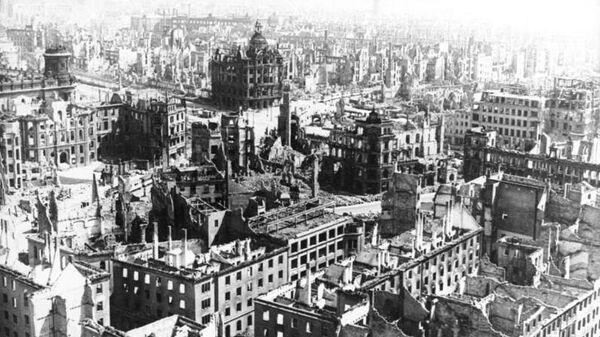 Разрушенный Дрезден. Фото из немецких архивов, 1945 год