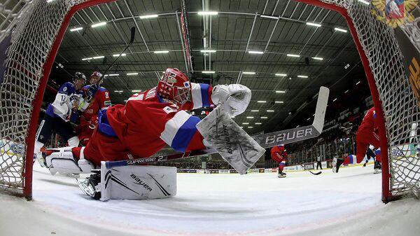 Голкипер сборной России Тимур Билялов
