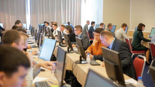Участники полуфинала конкурса Лидеры России 2020 стартовавшего сегодня в Санкт-Петербурге