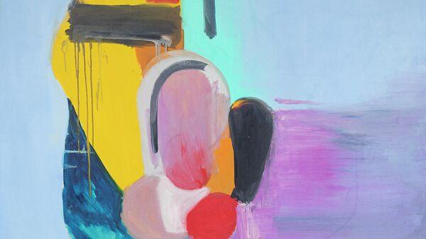 Работа Василисы Чоп на на выставке Новые городские художники на площадке Государственного музейно-выставочного центра РОСИЗО в Москве.