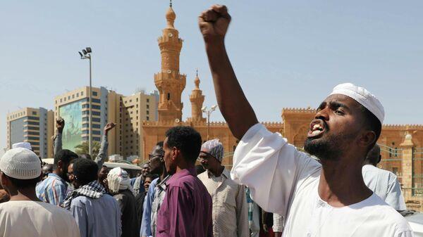 Акция протеста в Хартуме, Судан