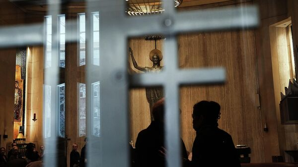 Месса в церкви на Манхэттене