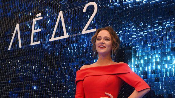 Актриса Аглая Тарасова на премьере фильма Лёд 2