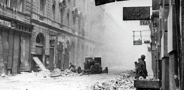Бои на улицах Будапешта. Январь 1945 года