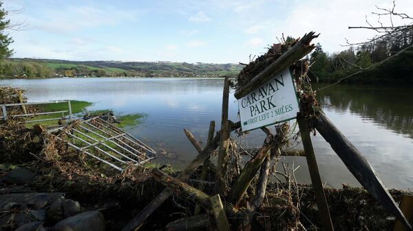 Последствия шторма Сиара в Северном Уэльсе