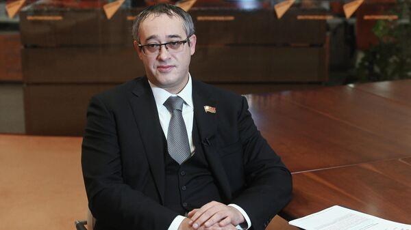 Председатель Московской городской думы Алексей Шапошников во время интервью в Международном информационном агентстве Россия сегодня