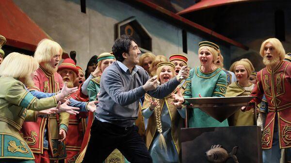 Сцена из оперы Садко в Большом театре
