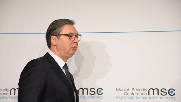 Президент Сербии Александр Вучич на Мюнхенской конференции по безопасности