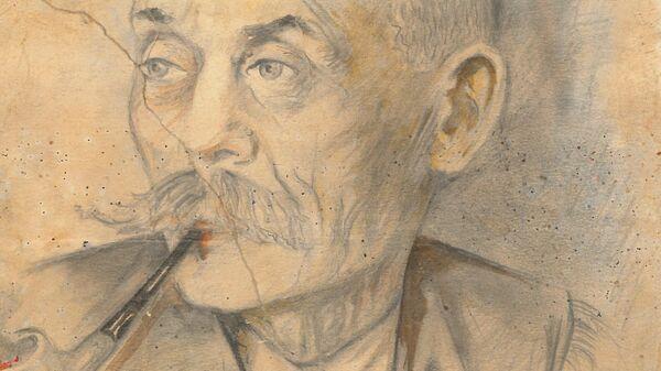 Портрет жителя польской деревни, нарисованный неизвестным красноармейцем в 1945 году