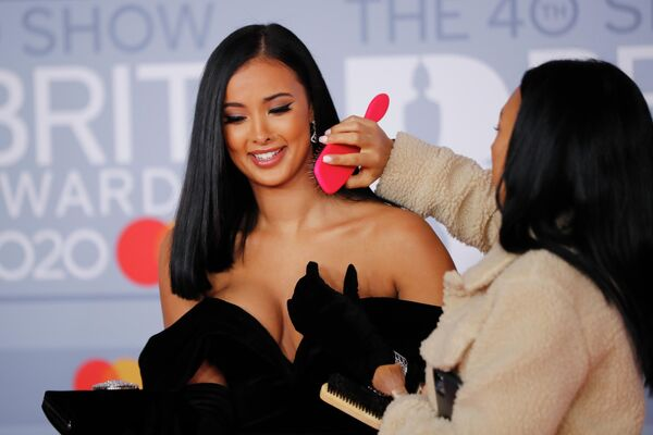 Британская телезвезда Майя Джама на церемонии вручения премии Brit Awards в Лондоне