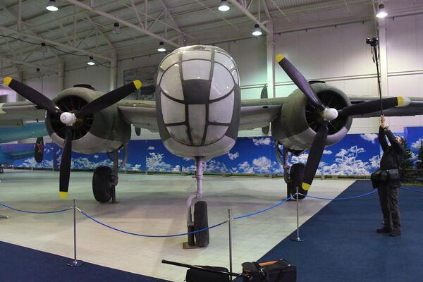 Американский бомбардировщик B-25 Митчелл , представленный в Центральном музее Военно-воздушных сил
