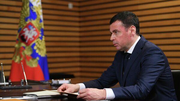 Дмитрий Миронов во время встречи с президентом РФ Владимиром Путиным