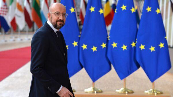 Президент Европейского совета Шарль Мишель на саммите ЕС в Брюсселе