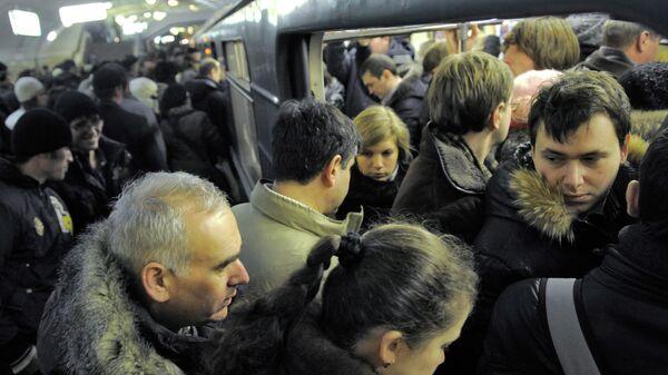 Московское метро в час пик