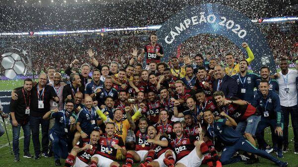 Футболисты бразильского клуба Фламенго