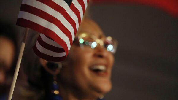 Сторонник кандидата в президенты США Джо Байдена