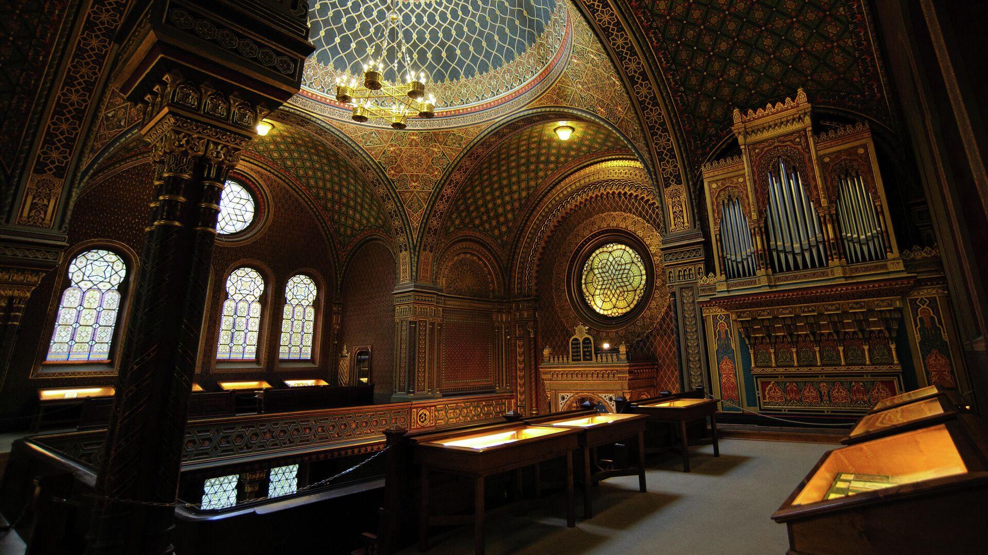 Интерьер Испанской синагоги в Праге - РИА Новости, 1920, 16.05.2021