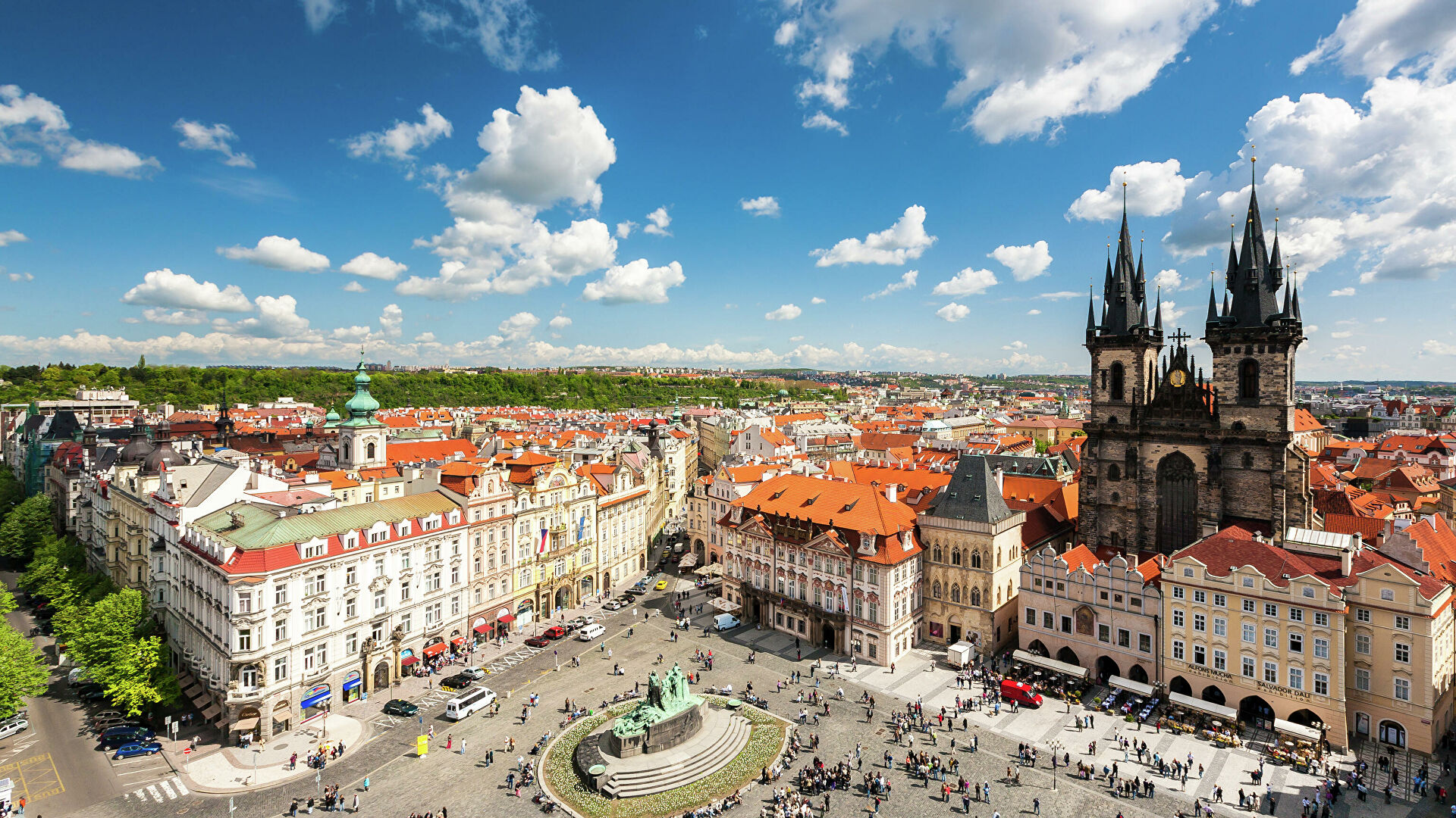 Вид с башни ратуши на Староместской площади в Праге  - РИА Новости, 1920, 28.09.2020