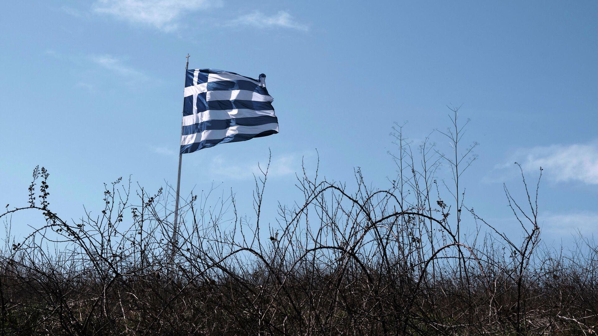 Флаг Греции на турецко-греческой границе - РИА Новости, 1920, 23.09.2020