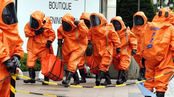 Сотрудники отряда химико-биологической обороны Южной Кореи
