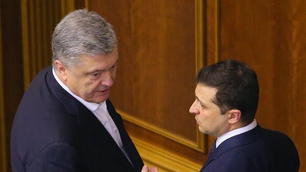 Президент Украины Владимир Зеленский и экс-президент Украины, депутат Верховной рады Украины Петр Порошенко