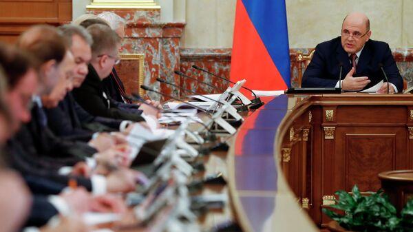 Председатель правительства РФ Михаил Мишустин проводит совещание с членами кабинета министров РФ. 5 марта 2020