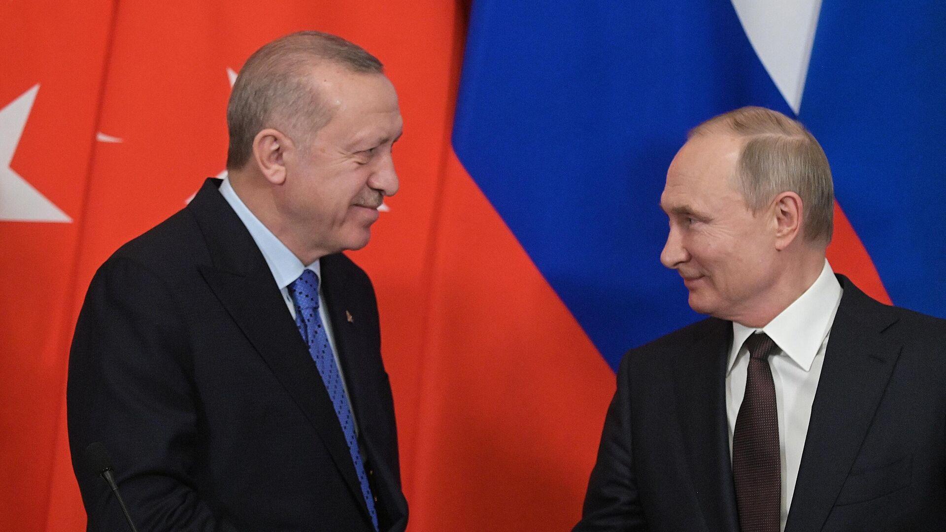 В Кремле назвали тему предстоящих переговоров Путина и Эрдогана