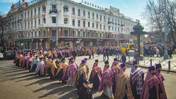 Крестный ход в Одессе. 8 марта 2020
