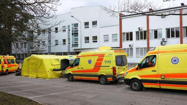 Мобильная лаборатория для сдачи анализов на коронавирус в Латвийском центре инфектологии в Риге