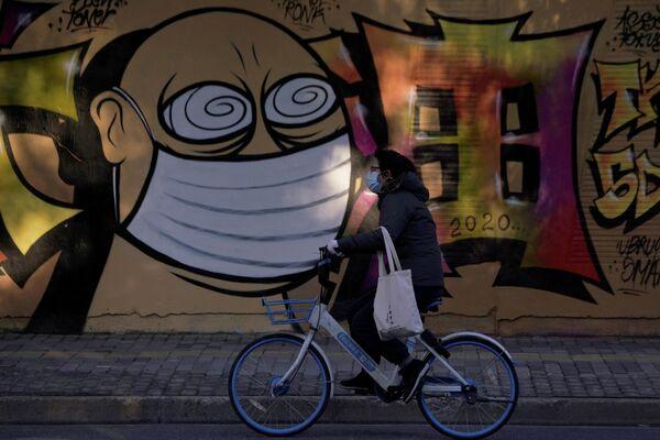 Граффити на стене в Шанхае