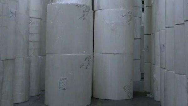 Завод по производству туалетной бумаги: продукцию выпускают в достаточном объеме