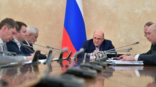 Председатель правительства РФ Михаил Мишустин проводит совещание по экономическим вопросам в Доме правительства РФ