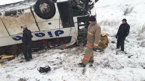 Последствия ДТП на 566-м километре трассы Р-22 Москва — Волгоград