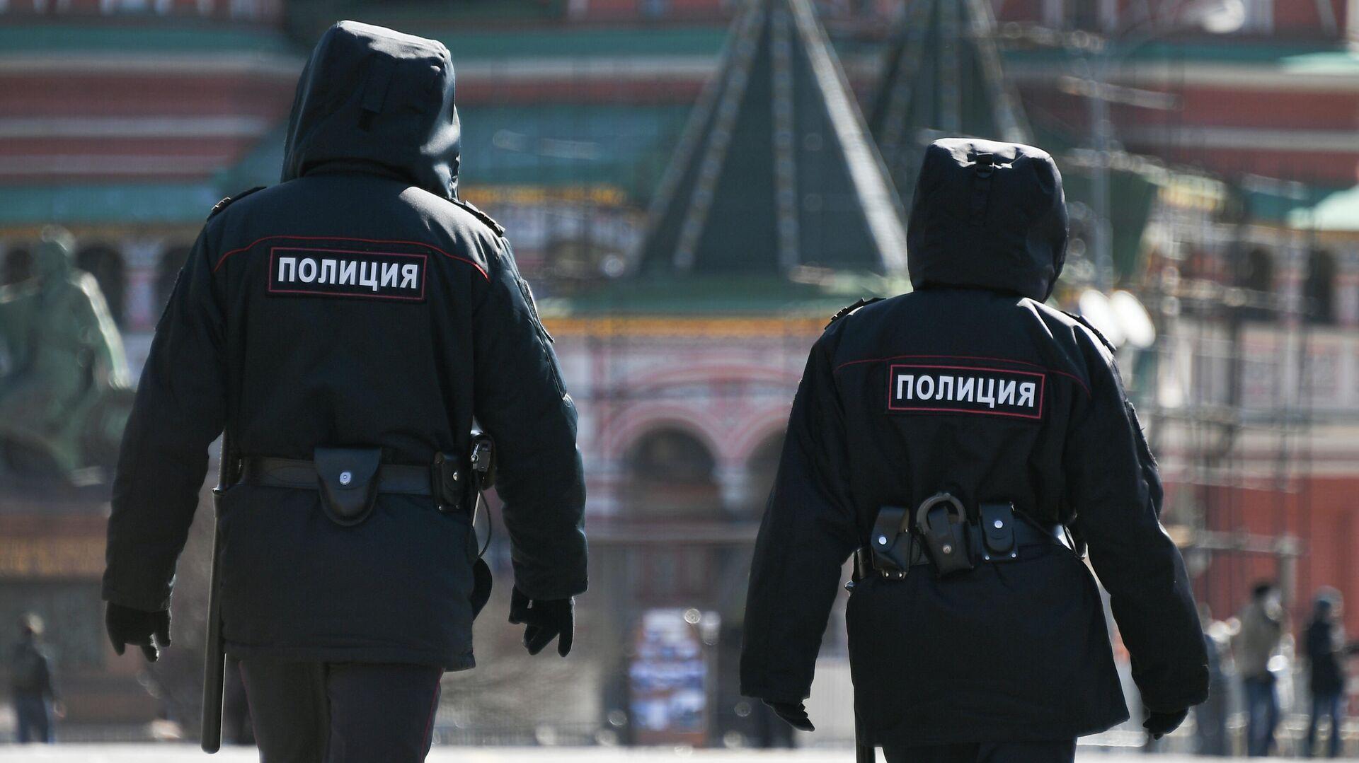 Сотрудники полиции на Красной площади в Москве - РИА Новости, 1920, 01.02.2021