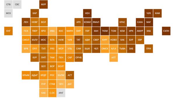 Рейтинг регионов по уровню зарплат в малых и средних населенных пунктах