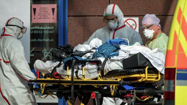 Пациент с коронавирусом с больнице Гелиос в Лейпциге