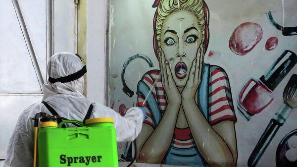 Дезинфекция магазина в Багдаде