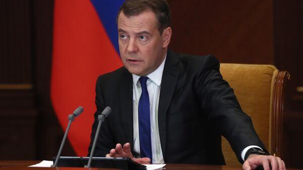 Дмитрий Медведев проводит совещание по вопросу Актуальные проблемы при внедрении технологии связи 5G в РФ и пути их решения
