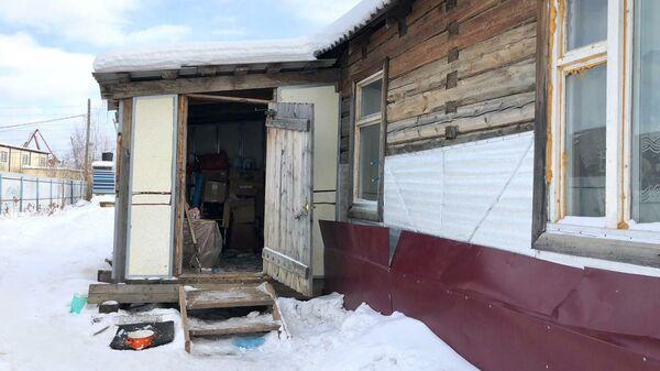 Дом на улице 1-я База в Якутске, где произошло убийство четырех человек