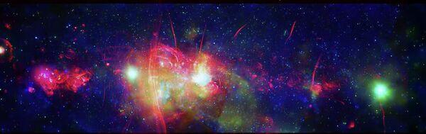 Центральная область нашей галактики Млечный Путь