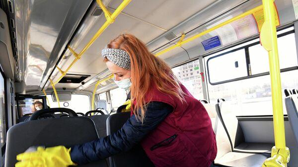Дезинфекция общественного транспорта в Красноярске