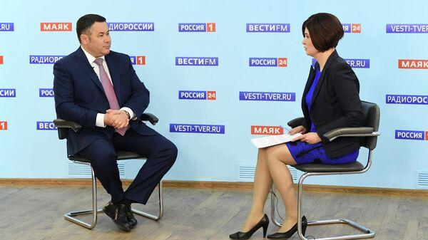 Игорь Руденя в эфире телеканала Россия 24