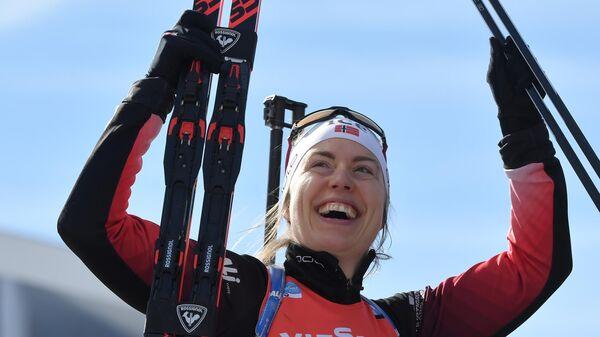 Шестикратная чемпионка мира по биатлону в эстафетах норвежка Сюнневе Сулемдал