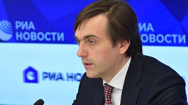 Министр просвещения РФ Сергей Кравцов во время онлайн-конференции в Международном мультимедийном пресс-центре МИА Россия сегодня в Москве.