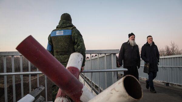 Контрольно-пропускной пункт  Станица Луганская в Луганской области