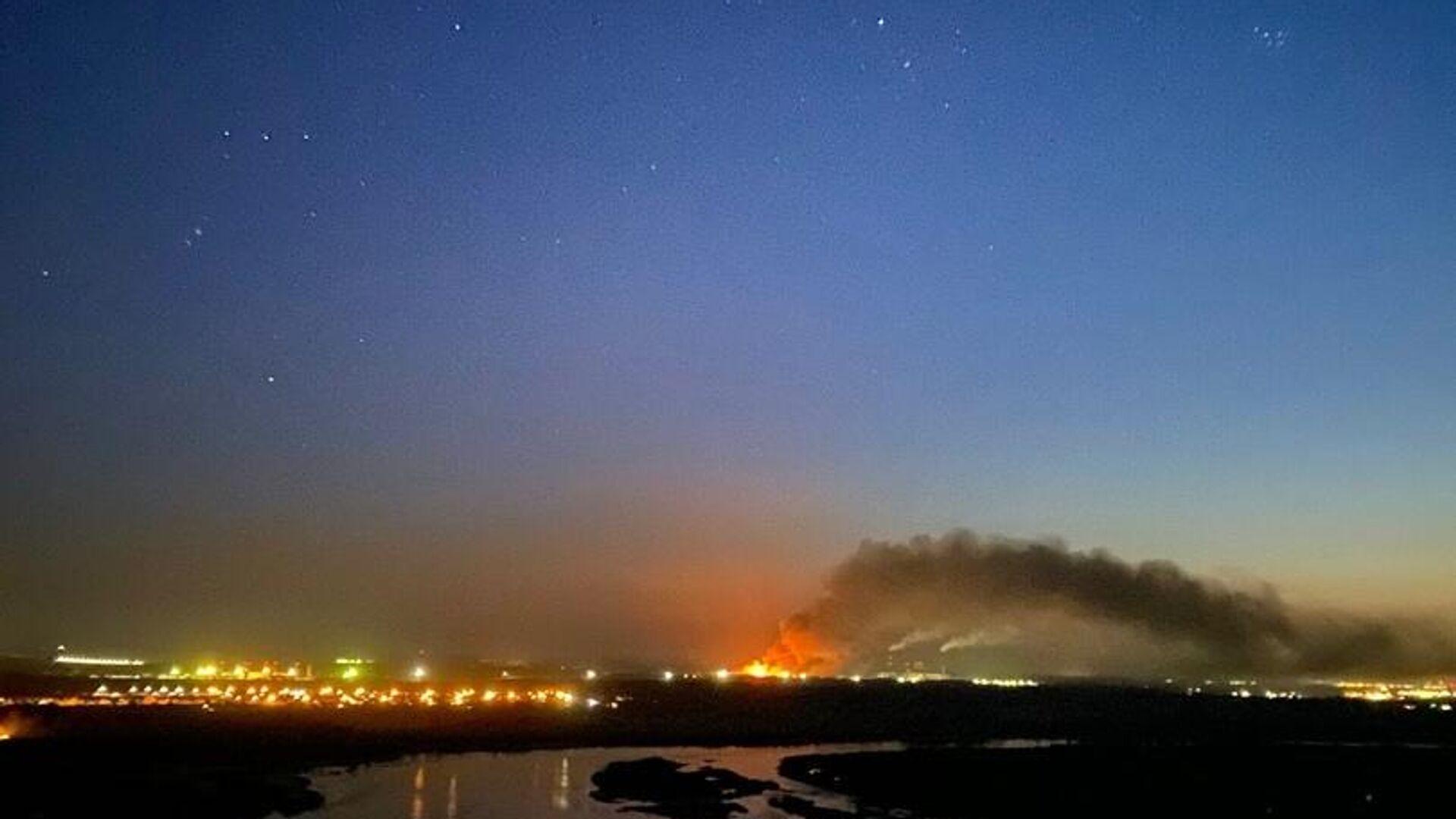 Пожар в ИК-15 в Ангарске, Иркутская область  - РИА Новости, 1920, 01.03.2021