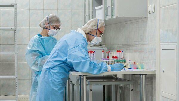 Сотрудницы в лаборатории
